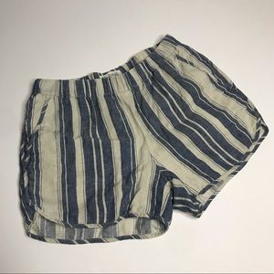 Madewell Pull On Shorts in Indigo Stripe sz S